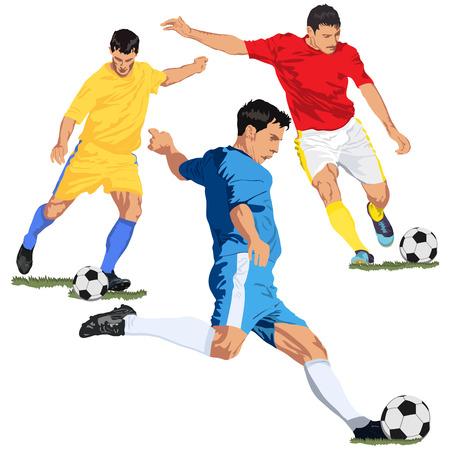Soccer football players 向量圖像