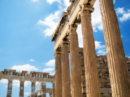 Parthenon on the Acropolis in Athens, Greece Stock Photo