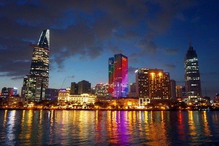 Cityscape of Ho Chi Minh Ciy. Saigon, Vietnam Stock Photo