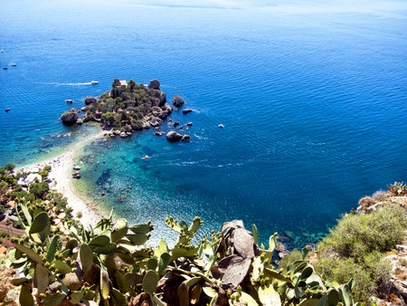 Beautiful panoramic view Taormina, Sicily Stock Photo