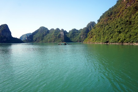 Beautiful sea landscape in Ha Long Bay, Vietnam