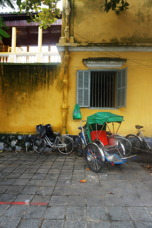 Street view of Hoi An City in Vietnam
