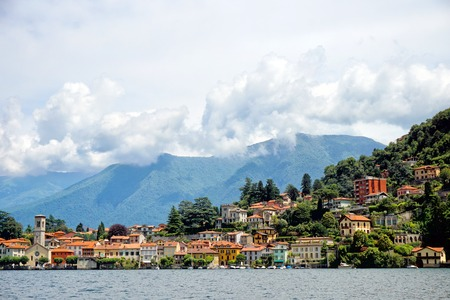 Panoramic view of lake Como, Italy