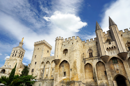 Palace of the Popes - in Avignon, France Stock Photo