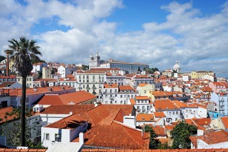 Panoramic view of Lisbon Stock Photo