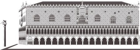 Doge palace in Venice Illustration