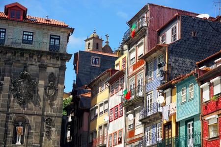 Facades of in Porto, Portugal