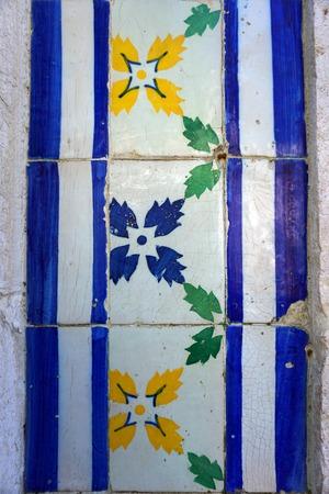 Azulejo tiles in Lisbon Stock Photo