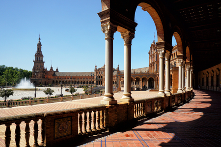 Plaza de Espana, Sevilla Stock Photo