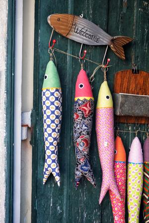 Colored portuguese sardines Stock Photo