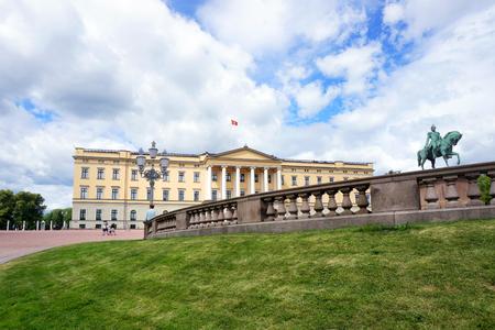 Royal palace in Oslo Stock Photo