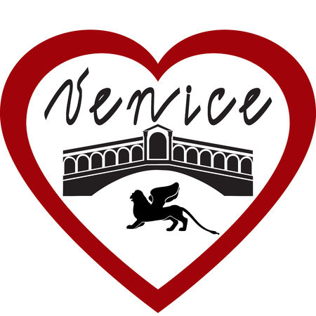 I love Venice vector image on white background