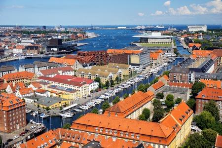 The beautiful panoramic view of Copenhagen, Denmark Stock Photo