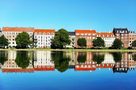 Colored houses in Copenhagen 写真素材