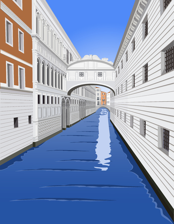 Bridge of Sighs, Venice Ilustracja