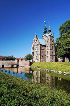 panoramic view from Rosenborg Castle in Copenhagen