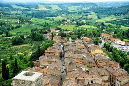Old town San Gimignano Reklamní fotografie