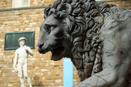 David at the Piazza de Signoria in Florence