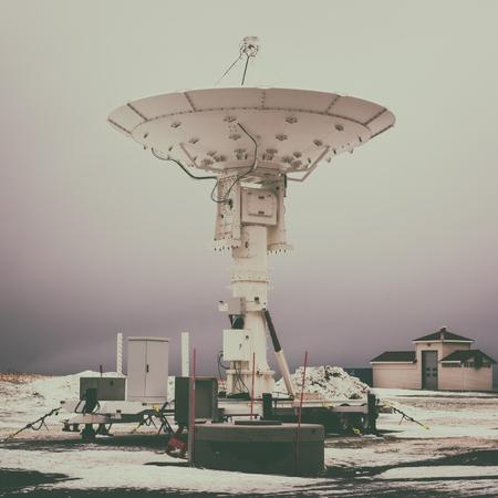 Fond satellite, centre de recherche spatiale, image vintage Banque d'images