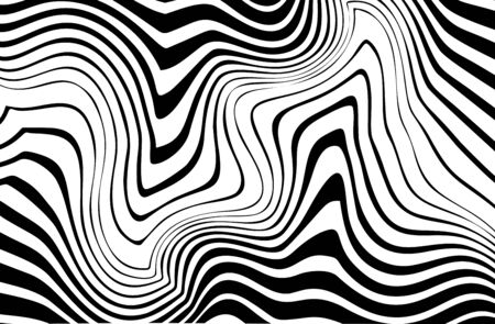 Abstract black and white wavy lines. Modern Vector Background Vektoros illusztráció