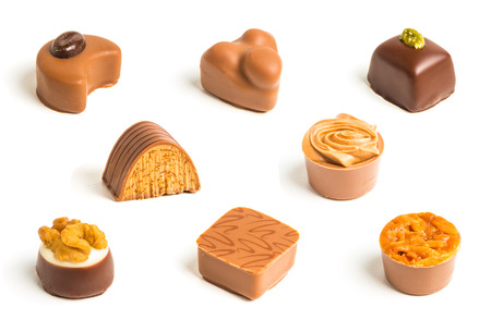 Mix of chocolate candies photo
