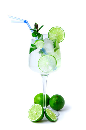 Mojito in a large glass photo