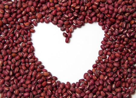 herbology: S  Valentine heart made of azuki beans