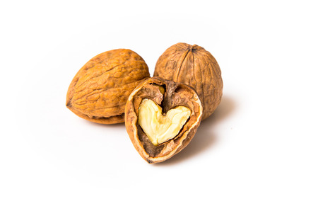 Heart of walnut  Stock Photo