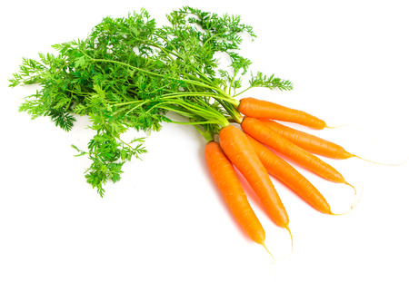 Fresh Carrots isolated on white background Banco de Imagens