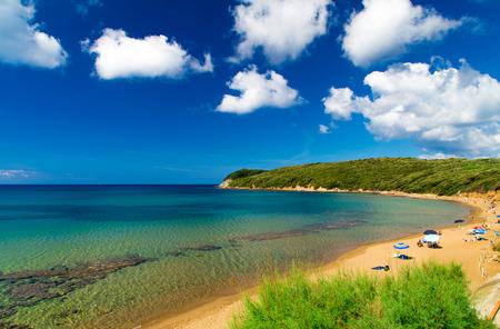 View of Baratti beach, Livorno, Tuscany Italy Stock Photo