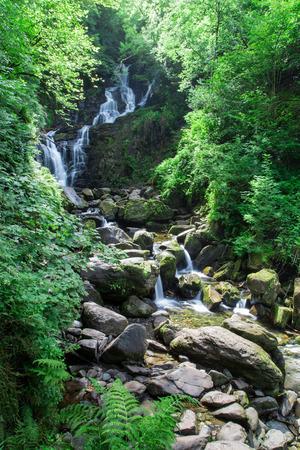 Torc waterfall in Killarney National Park, Ireland Archivio Fotografico