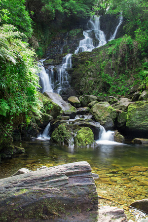 Torc waterfall in Killarney National Park, Ireland Stock Photo