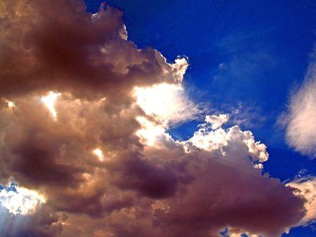 Sturm Wolken in Nevada Standard-Bild - 474461