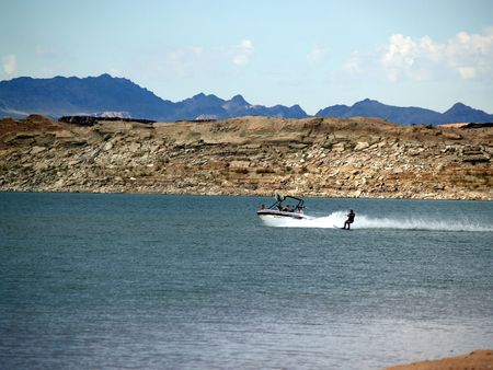 Skiing Lake Mead