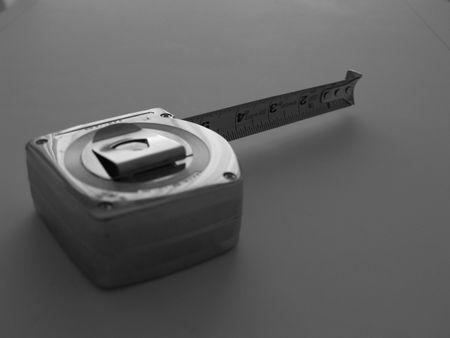 黒と白のテープ measue