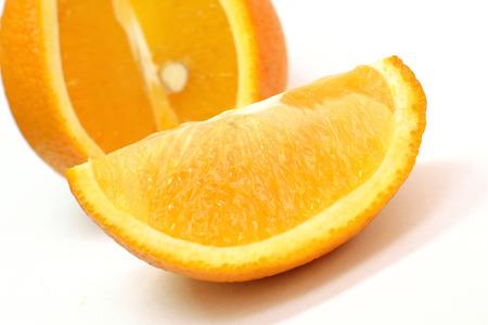 orange peel skin: slices of orange on a light background