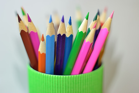 color pencils: Color pencils background. close up of pencil color