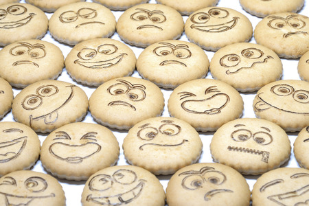 shortbread: delicious shortbread with smiles Stock Photo