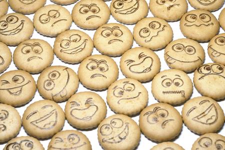 delicious: delicious shortbread with smiles Stock Photo