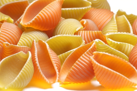 Pasta on a table Stock Photo