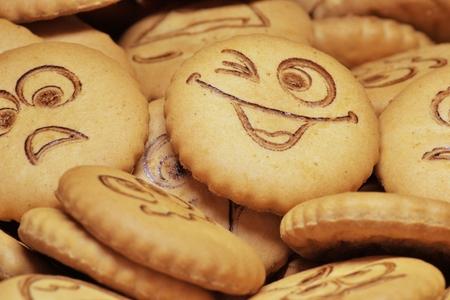 shortbread: delicious shortbread with smiles Stock Photo