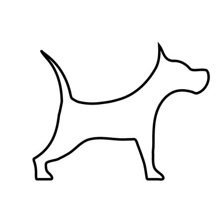 Black vector dog - icon, sign, symbol
