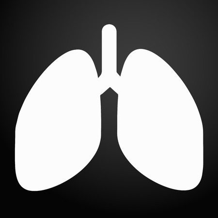 Lungs Icon. Vector Illustration. Stock Illustratie