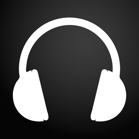 Headphones icon. Sign design.