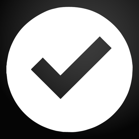 Check mark icon vector.