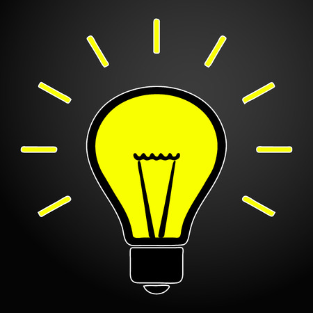 Light bulb idea concept vector icon.