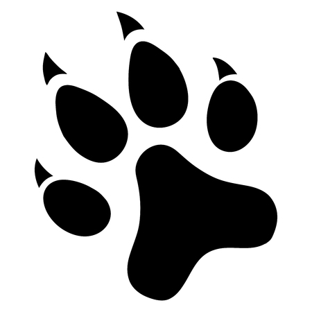 Paw Prints. Logo. Vector Illustration.