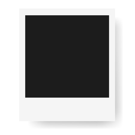 Polaroid Realistic photo frame isolated on white background. Polaroid Mockup