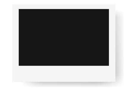 Realistic photo frame, isolated on white background. Mockup Stock Photo