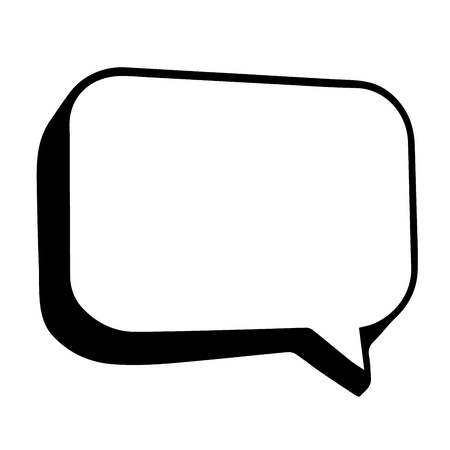Speech balloon line art vector icon for apps and websites.